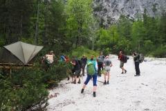 Bartgeier Monitoringzelt  Berchtesgaden